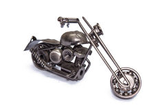 Cheaper vintage on white background. Motorcycle various metal parts on an isolated background Royalty Free Stock Image