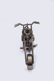 Cheaper vintage on white background. Motorcycle various metal parts on an isolated background Royalty Free Stock Photos