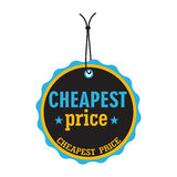 Cheapest price tag Royalty Free Stock Images