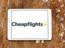 Cheapflights旅行公司商标 图库摄影