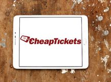 CheapTickets travel company logo. Logo of CheapTickets company on samsung tablet. CheapTickets is an online travel services company focusing on the leisure stock photo