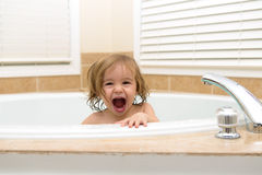 Chearfully Happy to be in the Bath Tub Royalty Free Stock Image