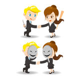 Cheat. Business woman and man  each other vector illustration