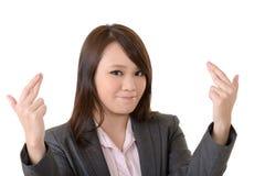 Cheat gesture Stock Photo