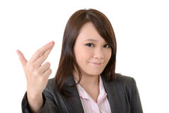Cheat gesture Royalty Free Stock Photo