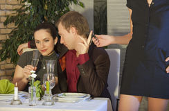 Cheat in restaurant Royalty Free Stock Photo