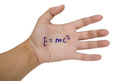 Cheat sheet on the hand. On white background Stock Image