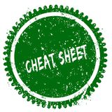 CHEAT SHEET round grunge green stamp. Illustration concept Stock Photography