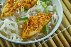 Cheater Pho. Homemade  Asian Noodle Soup, close up stock image