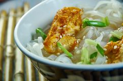 Cheater Pho. Homemade  Asian Noodle Soup, close up stock photography