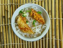 Cheater Pho. Homemade  Asian Noodle Soup, close up royalty free stock images