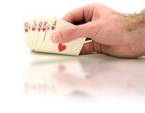 Cheating at Cards Stock Photos