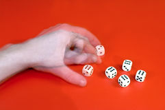 Cheating with dice Royalty Free Stock Image