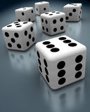 Cheating Dices Royalty Free Stock Photography