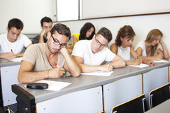 Cheating during an exam Stock Photos