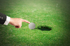Cheating in golf Stock Photography