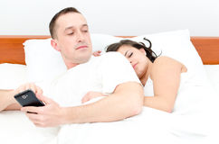 Cheating his wife Stock Photos