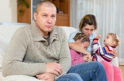 Cheating husband Royalty Free Stock Image