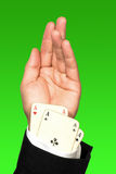 Cheating poker player Stock Images