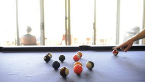 Cheating At Pool stock video footage