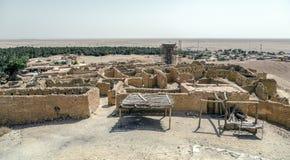 绿洲Chebika撒哈拉大沙漠,突尼斯,非洲 免版税库存图片