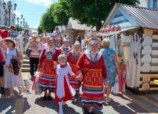 Cheboksari, Rusia - 24 de junio de 2015: El día de la república de C Imágenes de archivo libres de regalías