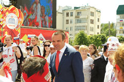 Cheboksari, Rusia - 24 de junio de 2016: Presidente de Chuvashia Ignat Foto de archivo libre de regalías