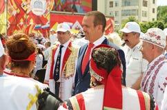 Cheboksari, Rusia - 24 de junio de 2016: Presidente de Chuvashia Ignat Foto de archivo