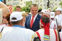 Cheboksari, Rusia - 24 de junio de 2016: Presidente de Chuvashia Ignat Fotografía de archivo libre de regalías