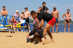 Cheboksary, Ρωσία - 16 Ιουλίου 2016: ανοικτά πρωταθλήματα στον πάγκο Στοκ Εικόνα