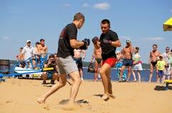 Cheboksary, Ρωσία - 16 Ιουλίου 2016: ανοικτά πρωταθλήματα στον πάγκο Στοκ Φωτογραφίες