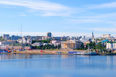 Cheboksary, overlooking the bay. Stock Image