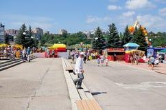 Cheboksary, Russia - June 24, 2015: The Day of the Republic of C. Cheboksary, Chuvashia, Russia - June 24, 2015: Day holiday of the Republic of Chuvashia stock photography