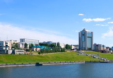 Cheboksary, Russian Federation. Cheboksary, the views of the bay and the office buildings of the city Stock Photo