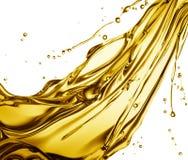 Chełbotania olej do smażenia Fotografia Stock