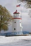 cheboygan маяк шпаргалки Стоковая Фотография