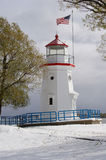 Cheboygan Crib Lighthouse. On Lake Huron in Michigan Stock Photography