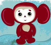 Cheburashka - russian cartoon. Character. Vector illustration Stock Photo