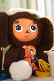Cheburashka. Russian toy Cheburashka - unknown animal science. Cartoon hero from russian mult Cheburashka and crocodile Gena Stock Image