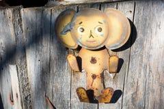 Cheburashka wieszak Obraz Royalty Free