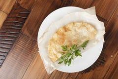 Cheburek с мясом Стоковая Фотография