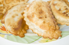 Cheburek, meal, snack, pastry, food, eating, plate, pie, appetizer Stock Images