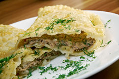 Cheburek  with meat Royalty Free Stock Photography
