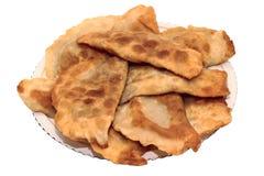 Chebureks del plato griegos Imagenes de archivo
