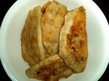 Chebureks fritos hechos en casa con la carne fotografía de archivo libre de regalías