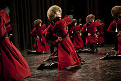 Chechen Male Dancers Royalty Free Stock Photography