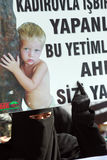 Chechen protest in Istanbul,Turkey Stock Photography