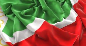 Chechen Republic Flag Ruffled Beautifully Waving Macro Close-Up Royalty Free Stock Photography