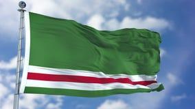 Free Chechen Republic Of Ichkeria Flag In A Blue Sky Stock Image - 113339881