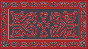 Chechen traditional ornament. Vector Illustration. Chechen Vainakh  traditional ornaments. used on Vainakh rugs are distinguished by a peculiar pattern and high Royalty Free Stock Photography